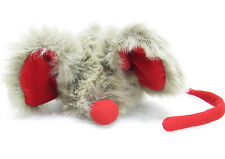 Mary Meyer MORT the MOUSE Fuzzy Soft Grey Gray Plush Red Ears Nose Stuffed Toy