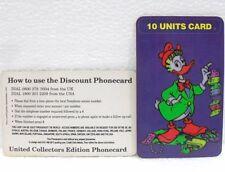 """PHONECARD PREPAID-DISNEY CLASSIC """"GASTONE-GLADSTONE GANDER""""scad 09/97"""
