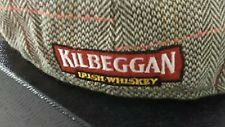 Kilbeggan Irish Whiskey Driving Cap Hat Cabbie Newsboy HAT OSFA Plaid Tweed