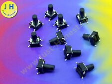 Stk. 10  x Taster / Tact Switch SMD 6x6x 9mm Reset Arduino 12V THT #A1827
