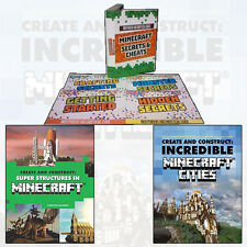 Minecraft Secrets & Cheats Box Set with Create and Construct Collection Set New