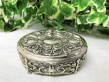 A Lovely Vera Lucino Silver Plate Trinket Box 2002