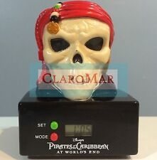 ☀️DISNEY Pirates of the Caribbean World's End Skull Projector Clock Collectible