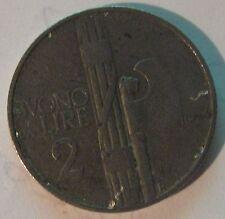 2 Lire Buono Regno d'Italia V. Emanuele III - zecca di Roma 1924 - R BB - nr.533