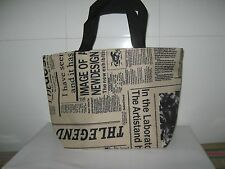 Newspaper style Lunch box bag lunch bags casual handbag small bag handbag
