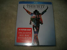 This is it : Michael Jackson  Blu-ray Steelbook B.New Sealed Canada