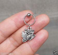 2ps Owl Tragus Earring Jewelry owl piercing jewelry ear Helix Cartilage Hoop