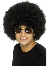 70's Funky Afro Wig - Black Brown Retro 1970s Smiffy's Fancy Dress Accessories