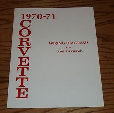 1970 1971 Chevrolet Corvette Wiring Diagram Manual for Complete Chassis 70 71