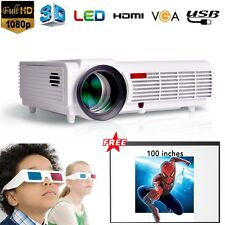 5000 Lumens 1080P Full HD Home Theater HDMI USB LED 3D Projector Business Screen