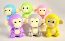 Iwako Jungle Animal 6 New Colour Monkey Japanese Erasers from Japan