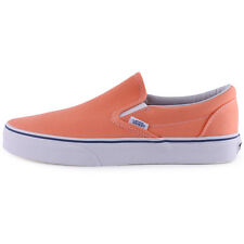 Vans Classic Slip On Womens Trainers Orange Brand New Shoes Size 4 UK 36.5 EU