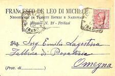TERLIZZI ( Bari ) - FRANCESCO DE LEO di MICHELE_Negoziante in Tessuti