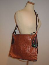 GABS  BROWN LEATHER /BLACK FABRIC LARGE TOTE,SHOULDER ,Crossbody BAG ITALY EUC