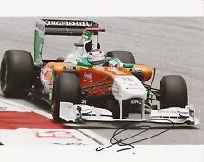 FORMULA ONE* ADRIAN SUTIL SIGNED 10x8 ACTION PHOTO+COA *FORCE INDIA* *SAUBER*