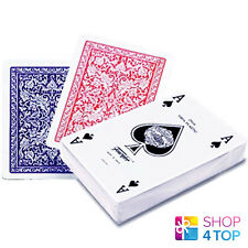 FOURNIER 2508 100% PLASTIC CASINO POKER PLAYING CARDS DECK STANDARD INDEX BLUE