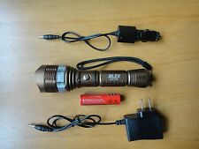 1600 LM Waterproof  XML T6 LED Zoomable 18650 flashlight Torch brown US Shipper