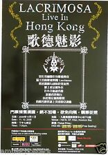 LACRIMOSA 2007 HONG KONG CONCERT TOUR POSTER - Gothic Heavy Metal Rock Music