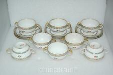 Antique C H Field Haviland Limoges GDA France Cherries China Soup Cup Set 1900