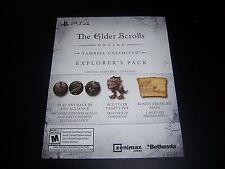Elder Scrolls Online Tamriel Unlimited PlayStation 4 PS4 Explorer's Pack DLC