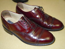 "MENS "" BOSTONIAN "" ALL LEATHER CORDOVAN WING TIP DRESS SHOES - SIZE 8.5D - USA"