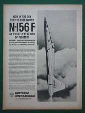 1959 PUB NORTHROP INTERNATIONAL N-156F US AIR FORCE SUPERSONIC FIGHTER MACH 2 AD