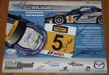 2014 CJ Wilson Racing #5 Mazda MX-5 signed CTSC postcard C.J. Wilson + 2 drivers
