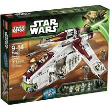 NEW Retired LEGO Star Wars 75021 Republic Gunship Episode II Building Play Set