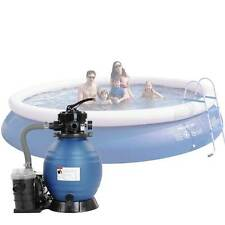 "Above Ground Swimming Pool 13"" Sand Filter & 3/4HP Pump System Intex Pool 4Valve"