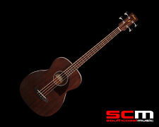 IBANEZ PCBE12MH ELECTRO-ACOUSTIC BASS GUITAR OPEN PORE MAHOGANY w/PICKUP + TUNER