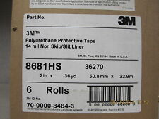 "3M HELICOPTER POLYURETHANE PROTECTIVE TAPE 2"" x 1 YARD 8681HS 36270 Light Grey -"