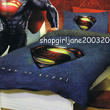 Superman - Man of Steel - DC Comics - Double Bed Quilt Doona Duvet Cover Set