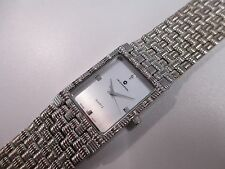 B6 NEW JB CHAMPION Silver Dress Stainless Steel Band WATCH Square VINTAGE Swiss