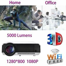 5000 Lumens Android 4.4 WIFI HD 1080P LED 3D AV HDMI TV Home Theater Projector M
