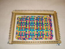 Oblong Potholder Weaving Loom Uses Traditional & Jumbo Loops - Cottage Looms