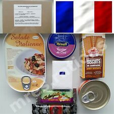 Food Ration MILITARY Army Pack FRANCE 1 Meal MRE Emergency Set Combat RIE