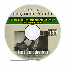 The Edison Phonograph Monthly, 166 Vintage Issues, 1903-1916, CD D05