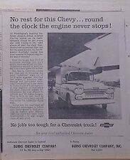 1959 newspaper ad for Chevrolet - Allied Aviation truck at National Airport D.C.