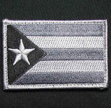 PUERTO RICO RICAN FLAG DARK OPS SWAT TACTICAL COMBAT VELCRO MORALE BADGE PATCH