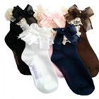 Baby Girls Lace Ruffle Frilly Ankle Socks Sweet Princess Cotton Short Socks US