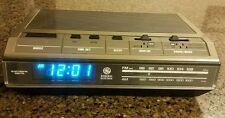 Vintage GE General Electric Digital Clock Radio Alarm W/ Blue LED 7-4642B