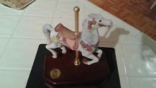 White Porcelain Carousel Horse Music Box - Carousel Collection 2nd Edition