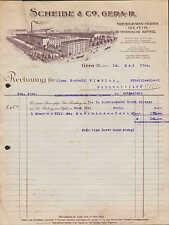 GERA-R., Rechnung 1922, Treibriemen-Fabrik Scheibe & Co.