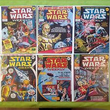 SALE Rare 6 x Star Wars Job Lot Vintage Marvel Comics 1977 Great Condition