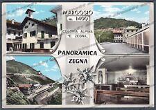 BIELLA PANORAMICA ZEGNA 07 MARGOSIO - COLONIA Cartolina FOTOGRAFICA viagg. 1964