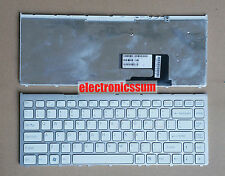 For Sony VAIO VGN-FW VGN FW 148084721 Laptop Keyboard US English White Frame New