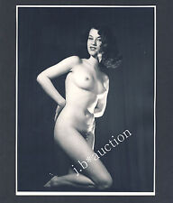 SULTRY NUDE WOMAN / AKT PIN UP EROTIK NACKTE FRAU * Vintage 60s SEUFERT Photo