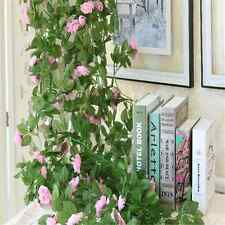 9Ft Home Decor Artificial Fake Rose Flower Silk Vine Garland Wedding Party