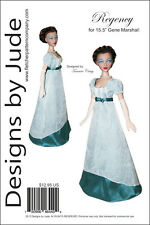 """Regency Dress Pattern for 15.5"""" Gene Marshall Dolls Ashton Drake"""
