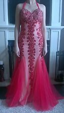 Red Jovani, Size 8, Mermaid Prom, Formal, Evening, Pageant, Ball Gown, Dress